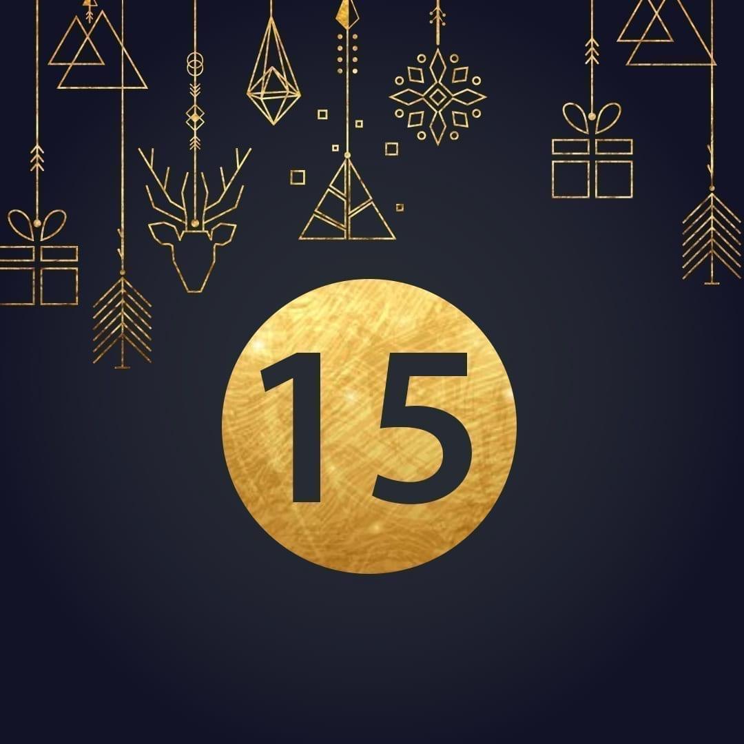 Lucka 15 i vår adventskalender. Kriss julkalender med fina erbjudanden varje dag fram tills julafton.