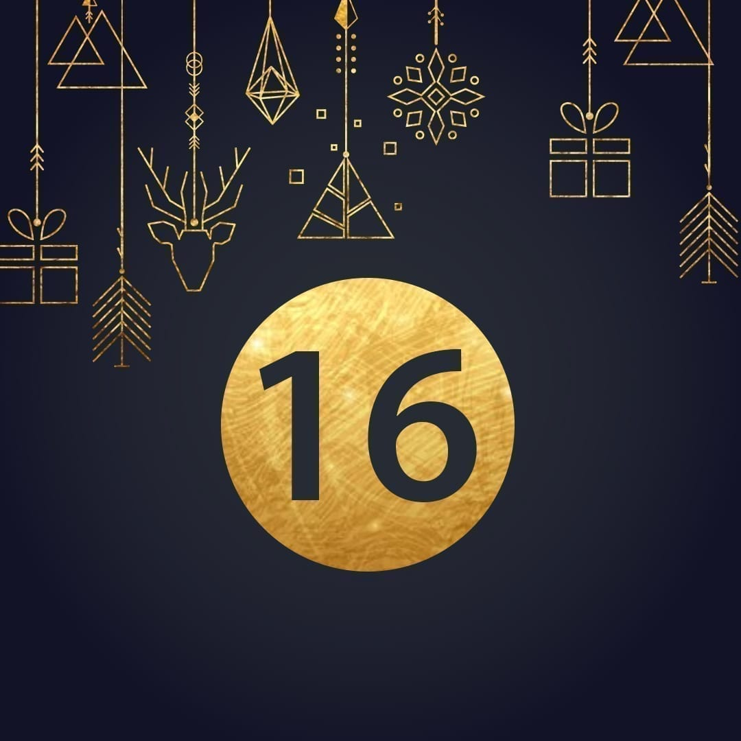 Lucka 16 i vår adventskalender. Kriss julkalender med fina erbjudanden varje dag fram tills julafton.