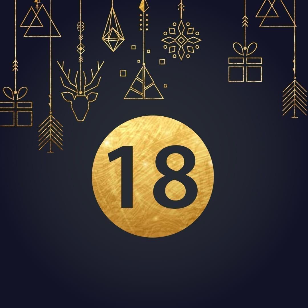 Lucka 18 i vår adventskalender. Kriss julkalender med fina erbjudanden varje dag fram tills julafton.