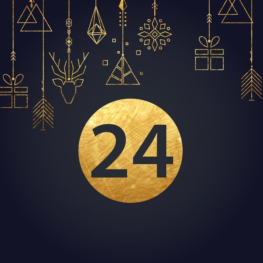 Lucka 24 i vår adventskalender. Kriss julkalender med fina erbjudanden varje dag fram tills julafton.