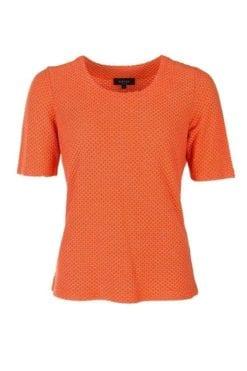 Härlig Kriss Topp Estelle i orange med kort ärm